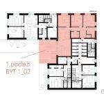 Umistění bytu 02 - patro